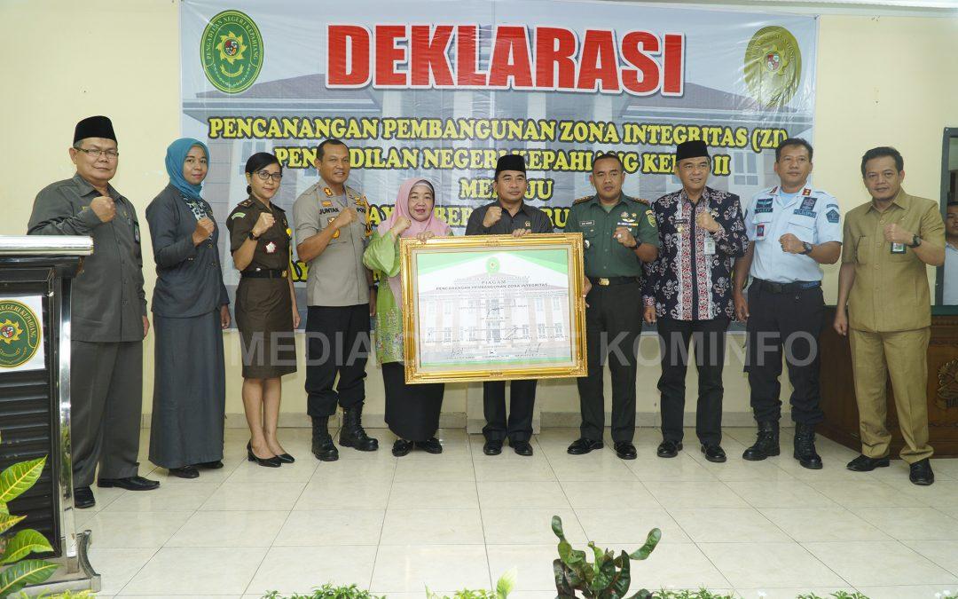 Deklarasi Zona Integritas WBK dan WBBP di Pengadilan Negeri Kepahiang