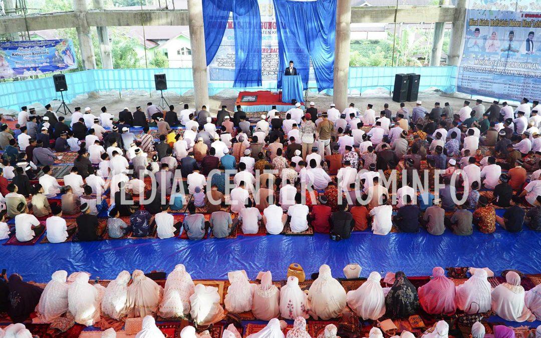 Sholat Idul Fitri, Bupati Resmikan Nama Masjid Agung