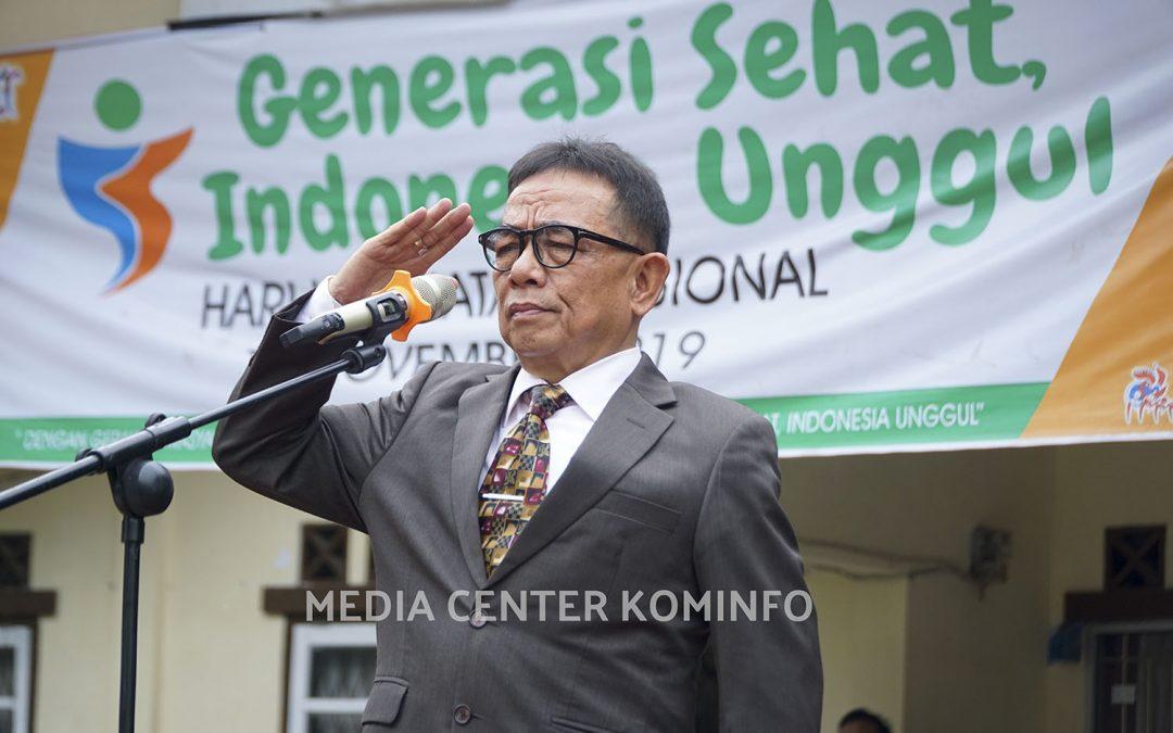 HKN Ke-55, Dinkes Gelar Upacara