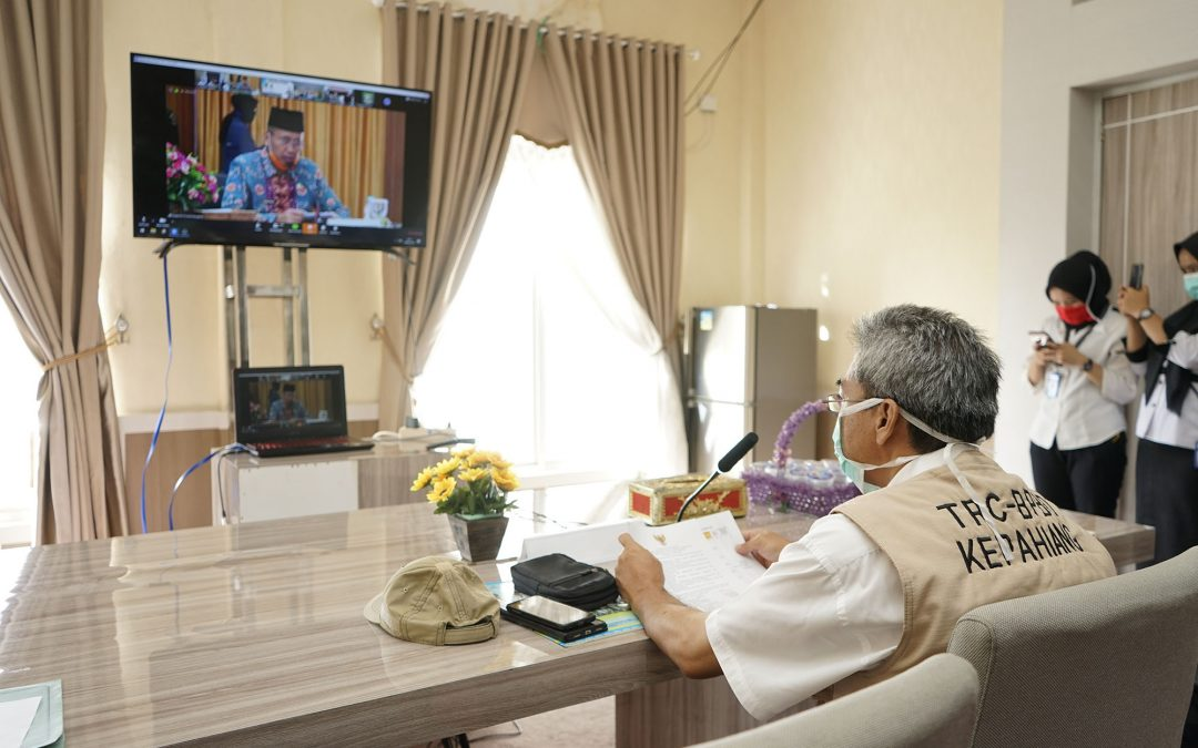 Sekda Virtual Meeting Musrenbang Provinsi