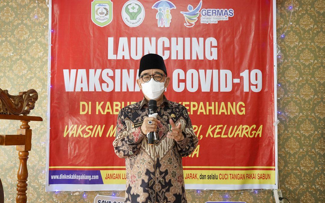 Bupati Launching Vaksinasi Covid-19 Di Kabupaten Kepahiang